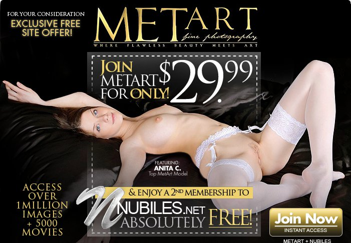header Free Nubiles Membership with Met Art
