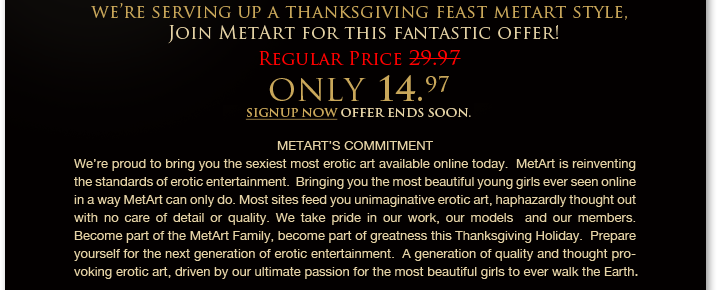 content Met Art Thanksgiving Discount!